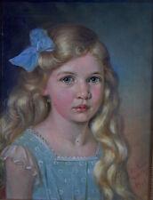 Anton BOCH (1855 - 1915 Bregenz) - blondes Mädchen - Portrait 1910 - sign. dat.
