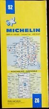 MICHELIN FRANCE 1973 COLOURED PAPER MAP of PONTARLIER-GRENOBLE No 92 1:200 000
