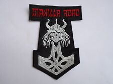 MANILLA ROAD VIKING SKULL EMBROIDERED PATCH