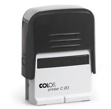Tampon Auto-Färber COLOP printer c20 3-4 lignes avec texte/logo