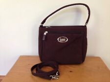 Esprit Vegan Chocolate Brown Handbag Shoulder Crossbody Purse Chrome Hardware