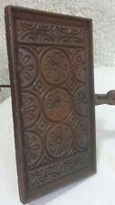 gaufrier N° 2 moule à gaufre ancien fonte objet religieux art populaire hostie