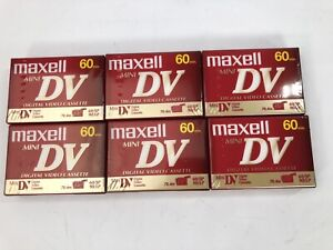 MAXELL Mini DV DVM60SE Lot of 6 Tapes - ALL NEW Sealed