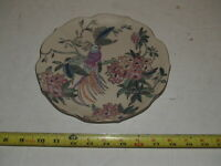 Vintage Toyo China Decorative Plate Exotic Bird and Flowers - 8 1/2""