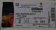 OLD TICKET EL Anderlecht Brussel Belgium - Ajax Amsterdam Holland Netherlands