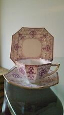 Vintage LILAC Pre Shelley WILEMAN Foley Queen Anne Shape TRIO RD 447136 last one