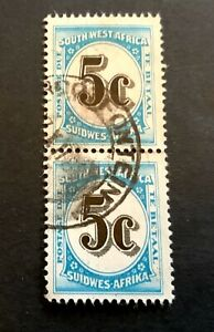British South-West-Africa 1961 - pair of used service stamps