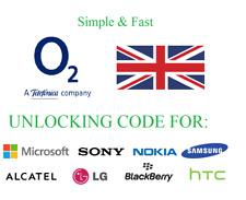 O2 Unlocking Service Unlock code Apple Samsung Galaxy Sony Huawei Lumia Google