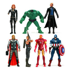 Hot 7pcs The Avengers Iron Man Captain Hulk Thor Hawkeye Figure Figurine Ew01
