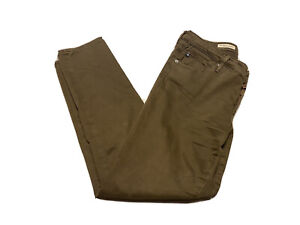 AG Adriano Goldschmied The Stevie Ankle Slim Straight Leg 27R Olive Crop Jeans
