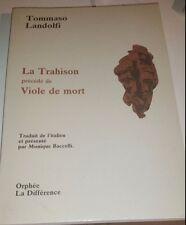 T. Landolfi La trahison précédé de Viole de mort 1991 Tradimento Viola di Morte