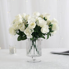84 Cream Ivory Silk Rose Buds Wedding Party Flowers Bouquets Decorations on Sale