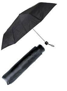 Black Umbrella Sleeve Windproof Storm Travel Compact Folding Mens Womens UU0072