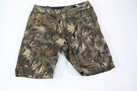 Volcom cargo shorts mens size 31 tropical camo green