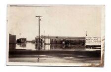 RPPC BIG SANDY MONTANA PHOTO POSTCARD Giebel & Mahood Ford Ad Sign Vintage MT US