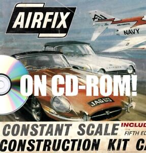 VINTAGE AIRFIX PLASTIC MODEL KIT CATALOGS ON CD-ROM! TOY SOLDIERS PLANES TANKS +