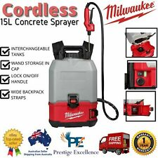 Milwaukee 18v Li-ion Cordless 15l Switch Tank Backpack Concrete Sprayer Skin