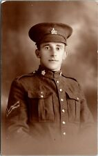 Postcard Canada Winnipeg Studio RPPC Real Photo Canadian Officer WWI C. 1914 L16