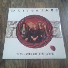 """WHITESNAKE - THE DEEPER THE LOVE 7"""" 1989 EMI EX"""