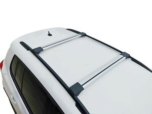 Alloy Roof Rack Slim Cross Bar for Volkswagen Touareg 2010-18 Lockable