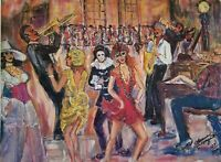 """Limited addition art print """"Carnival"""" by Lorraine Fouquet 130/500 signed"""