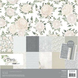 KaiserCraft Two Souls 12x12 Paper Pack Collection Wedding Romance Love