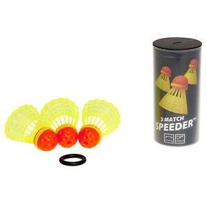 SPEEDMINTON® Match Speeder® 3er Bälle Federball Federbälle + Windring Outdoor