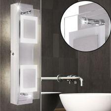 Luxus LED Wand Lampe Bade Zimmer Spiegel Chrom Glas Strahler Nass Raum Leuchte
