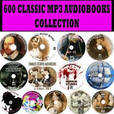 600 MP3 CLASSIC AUDIO BOOKS COLLECTION PC-DVDS HORROR GHOST SCI-FI CHILDRENS NEW