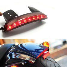 Smoke Motorcycle Fender Chopped LED Tail Light Brake Stop Lamp For Harley XL883