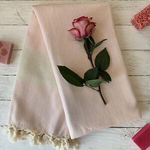 Hamamtuch Pestemal Badetuch Strandtuch Baumwolle Rosa 175 x 100 cm ANGEBOT
