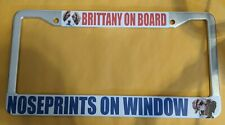 """""""Brittany on Board"""" license plate frame"""