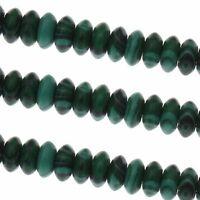 Malachitgrün Perlen 6mm Rondelle Synthetischer Schmuckperlen 20Stk G594