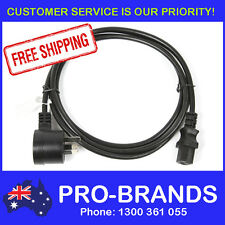2m Piggyback IEC Plug 1.0mm Power Cable Lead Cord Jug Black Piggy Back 2-Metre