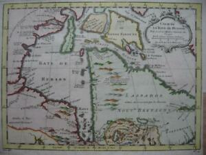 1757 - BELLIN - CANADA Map HUDSON BAY