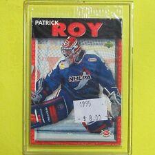 """PATRICK ROY  95-96 """" UPPER DECK POST CEREAL """"  #10    Colorado Avalanche"""