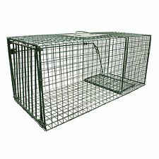 "Heavy Duty Raccoon Armadillo Cat Cage Trap 30"" x 12"" x 12""  Humane Live Trap"