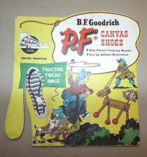 VINTAGE B.F. GOODRICH P-F CANVAS SHOES STORE DISPLAY CARDBOARD SIGN
