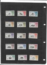 FALKLAND ISLANDS 1960 BIRDS SET SG.193-207 MOUNTED MINT--MLH