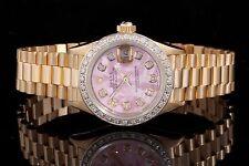 Rolex Yellow Gold Ladies President 69178, Pink MOP Diamond Dial & Bezel