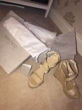 Jimmy Choo Wedges, Portia 120, Nude, Size 5/38, Perfect Condition, Worn Once