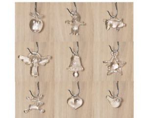9 x Vintage Kosta Boda Bertil Vallien Hangable Glass Christmas Ornaments