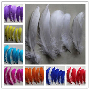 wholesale 100-2000PCS Beautiful 6-10cm/3-4inches  Goose Feathers DIY