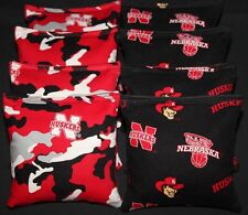 8 All Weather Nebraska Cornhuskers Cornhole Bean Bags Resin Filled Waterproof