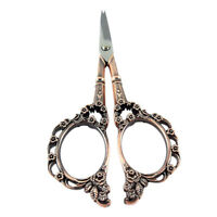 2X(European Vintage Retro Style Sewing Scissors for Needlework Copper Color F TD