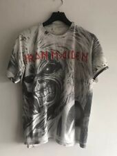 Iron maiden vintage all over imprimé zèbre couleur t-shirt taille xl (correspond à m-l)