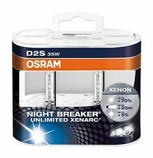 2 pezzo Osram d2s 66240 xnb NIGHT BREAKER UNLIMITED XENARC in DUO HARD BOX NUOVO
