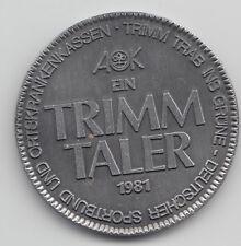 1981 Ein Trimm Taler german walking coin - TRIMM TRAB INS GRÜNE 272