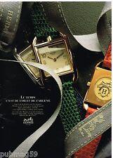 Publicité Advertising 1992 Les Montres Hermès Cap Cod