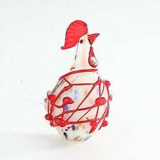 "8"" Large Hand Blown Art Glass Rooster Chicken Bird Figurine Sculpture Statue"